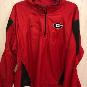 Nike Georgia Bulldogs storm-fit 1/4 zip pullover